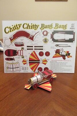 CHITTY CHITTY BANG BANG PAPER CUT OUT  25th. aniversary give away reproduction
