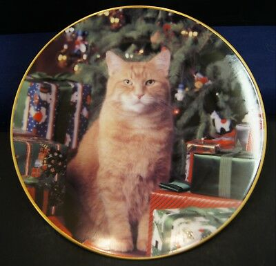Morris the Cat 1993 Vintage plate Happy Holidays with Morris