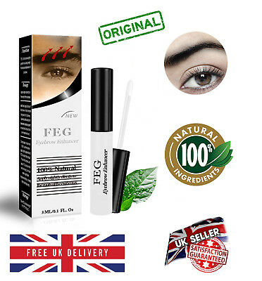❤️FEG Organic 3ml Eyebrow Enhancer Growth Serum 100% Natural Liquid Oil❤️