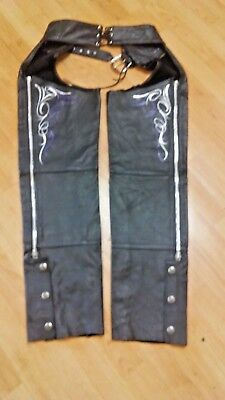 Harley Davidson Ladies Leather Chaps Size M Made In USA Excellent Condition