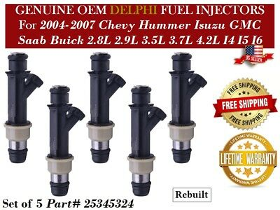New Herko Fuel Injector 25345324 Set of 6 For Buick Chevrolet GMC 2005