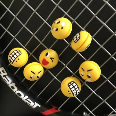 High Quality Shock Absorber Silicone Rubber Funny Emoji Face Tennis Racket