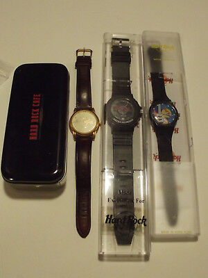 Lot of 3 Hard Rock Watches