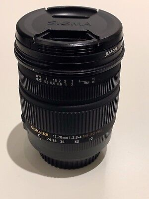 Mint Sigma 17-70mm f/2.8-4 DC Macro OS HSM Zoom Lens Canon Digital Camera DSLR
