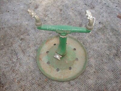 Vintage Metal Sunbeam Rain King Model H3 Lawn Garden Sprinkler Steampunk