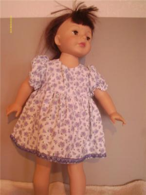 """Doll Clothes American Girl 18"""" Dress Purple Floral Print"""