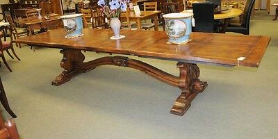 Extending French Refectory Table Kitchen Dining