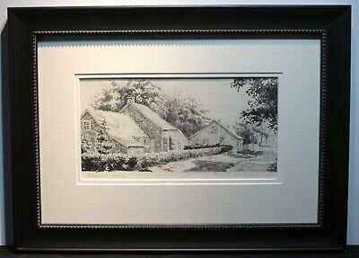 Emile Albert Gruppe original pencil drawing titled Rockport, Massachusetts