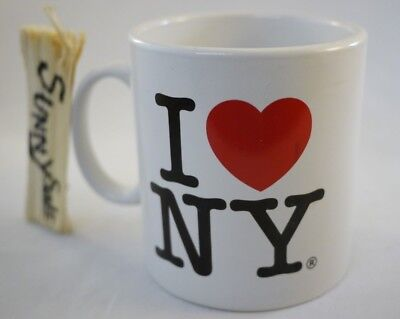 I Love NY White 20oz Mug NYC Classic Licensed I Heart New York City Coffee Tea