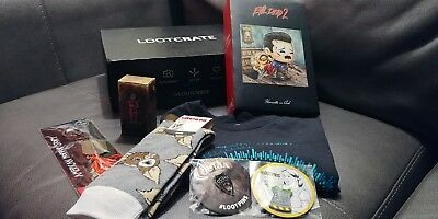 Loot Crate Lot Collectables Pins Keychain Figures T-shirt Socks