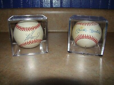 2604d4ee53f Mickey Mantle and Ken Griffey Jr. Autograph Baseball Lot of 2 1980 s 1990 s