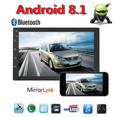 "7"" 2DIN Car GPS Android 8.1 Stereo Radio Player WIFI Navigation Video In-Dash HD"