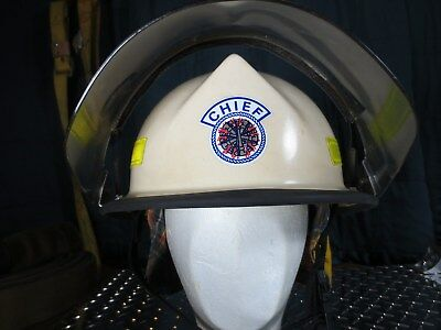 Morning Pride Chief Lite Force Firefighting Helmet Kevler 1988 Medic