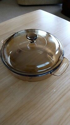 Corning Vision 20cm Lidded casserole / Browning dish Excellent condition