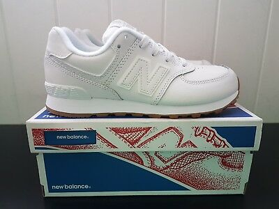 New balance 574 Kids infants White Shoes Sneakers runners BNIB Size US 2