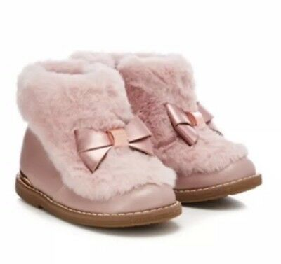 571ae2c5c TED BAKER - Girls  grey faux fur cuff ankle boots BNWT Size Size 8 ...