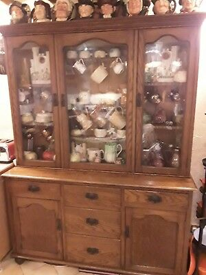 Beautifully Figured, Late Victorian, Welsh Carmarthenshire Oak Dresser (c.1880)