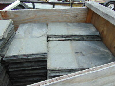 """Antique Vintage Roof Slate Shingles Gray Large 10"""" X 18"""" Qty 1 Paint Craft"""