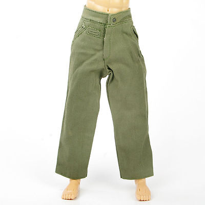"Dragon 1/6 Scale WWII Army Green Trousers Pants F 12"" Action Figure Models"