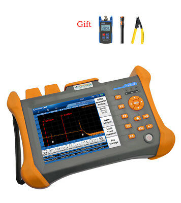 """125.6"""" touch screen 100km SM OTDR 1310/1550nm Optical Time Domain Reflectometer"""