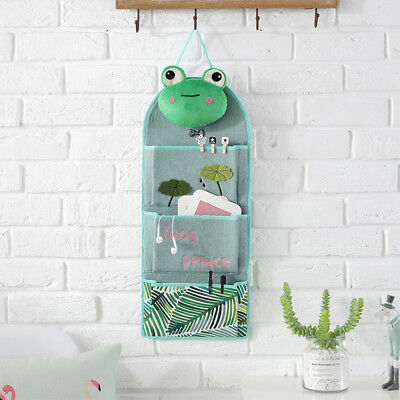 Home Decor Wall Hanging Storage Bag Organizer Toys Container Pocket Pouch N7