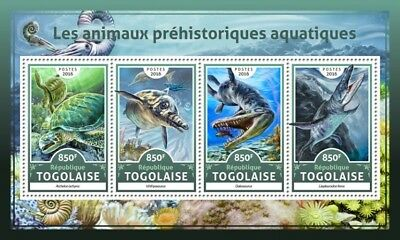 Z08 Tg16616a Togo 2016 Prehistoric Water Animals MNH Mint
