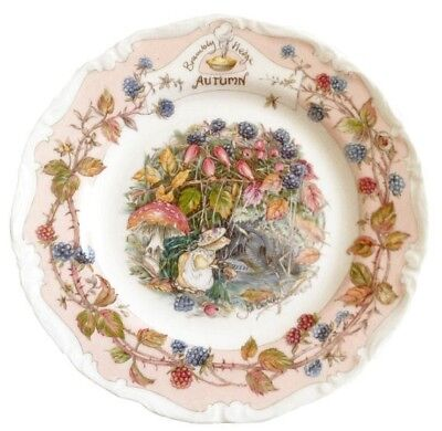 Brambly Hedge Autumn Tea Plate 6 inch - 1st Quality - Royal Doulton