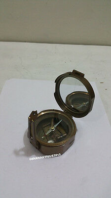 Nautical Compass Antique Brass Nautical Vintage Collectibles