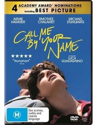 Call Me By Your Name 2018 Genuine Aust Release R4 Dvd New Sealed Gay Interest