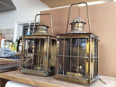 Two Vintage Brass Lanterns