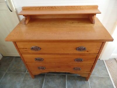 Solid Edwardian Chest Of Drawers (Le65)