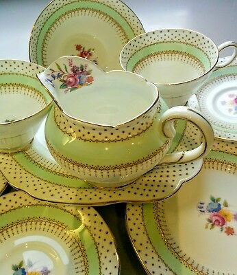 """Stunning Tea Trio Tea Set by Paragon """"By Appointment""""  Fine Bone China 9 Piece"""