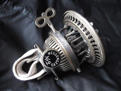 A Victorian Messenger's No.2, Silver plated, Duplex, OIL LAMP BURNER.