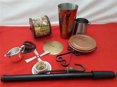 Job Lot Vintage Mixed items Metalware and various Collector Restoration ?
