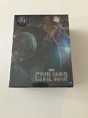 Captain America Civil War One Click Steelbook Edition Blu ray (Weet Colletion)