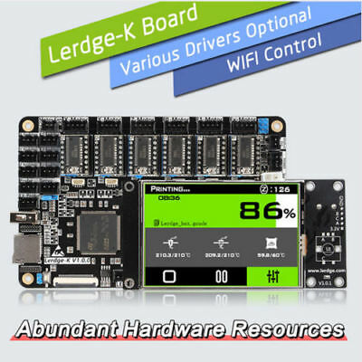 LERDGE-K 3D Printer Controller Board with 3.5″ Touch screen. Choose driver