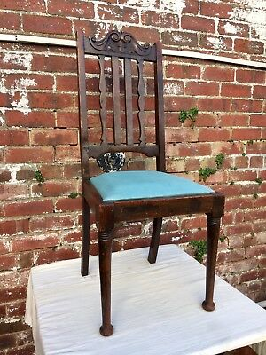 Antique Vintage Georgian Chair, Large Chair, Single Chair, Oak Chair