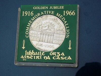 1916-1966 Easter Rising Jubilee Silver Commemorative Medallion