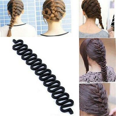Femme Mode Styling cheveux clip bâton Bun café Braid outil Casual Party noir AT