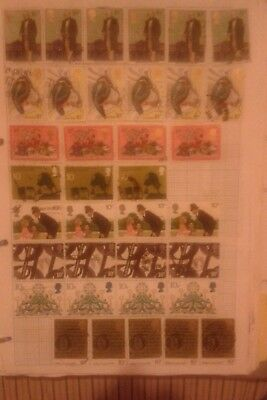 GB stamps used 1970s