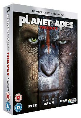Planet of the Apes Trilogy 3 Film Collection 4K + Blu-ray New Region Free A,B,C!