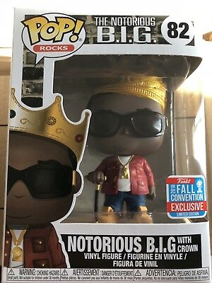 Funko Pop NYCC 2018 The Notorious B.I.G. With Crown Biggie