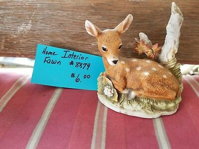 Home Interior Figurines:  Fawn #8879