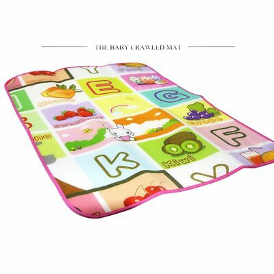 Funny Portable Baby Alphabet Children Rug Play Mat Soft Floor Puzzle Waterproof
