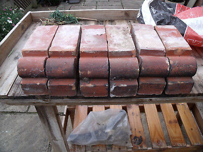 Victorian Red Bull Nose Decorative Bricks X 6