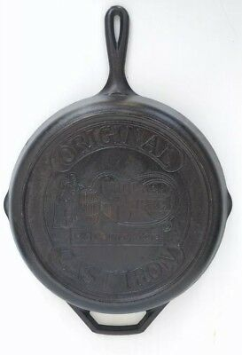 "Original Cracker Barrel Old Country Store 10"" Black Cast Iron Frying Pan Skillet"
