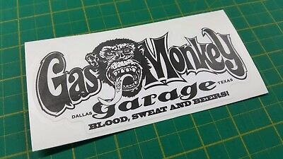 Gas Monkey Garage Sticker Car Toolbox Window Vinyl Decal Fast N Loud