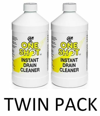 One Shot Drain Cleaner 1 Litre (Twin Pack) 2 Litres