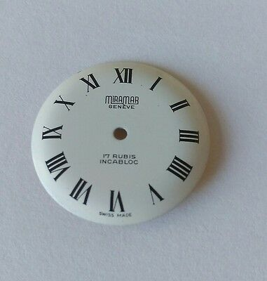 ETA 2409 Watch Dial Luminous  22.50mm Approx Swiss Made Enamel Style