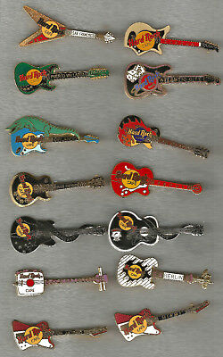 Hard Rock Cafe Guitar Pins Your Choice Price per Pin